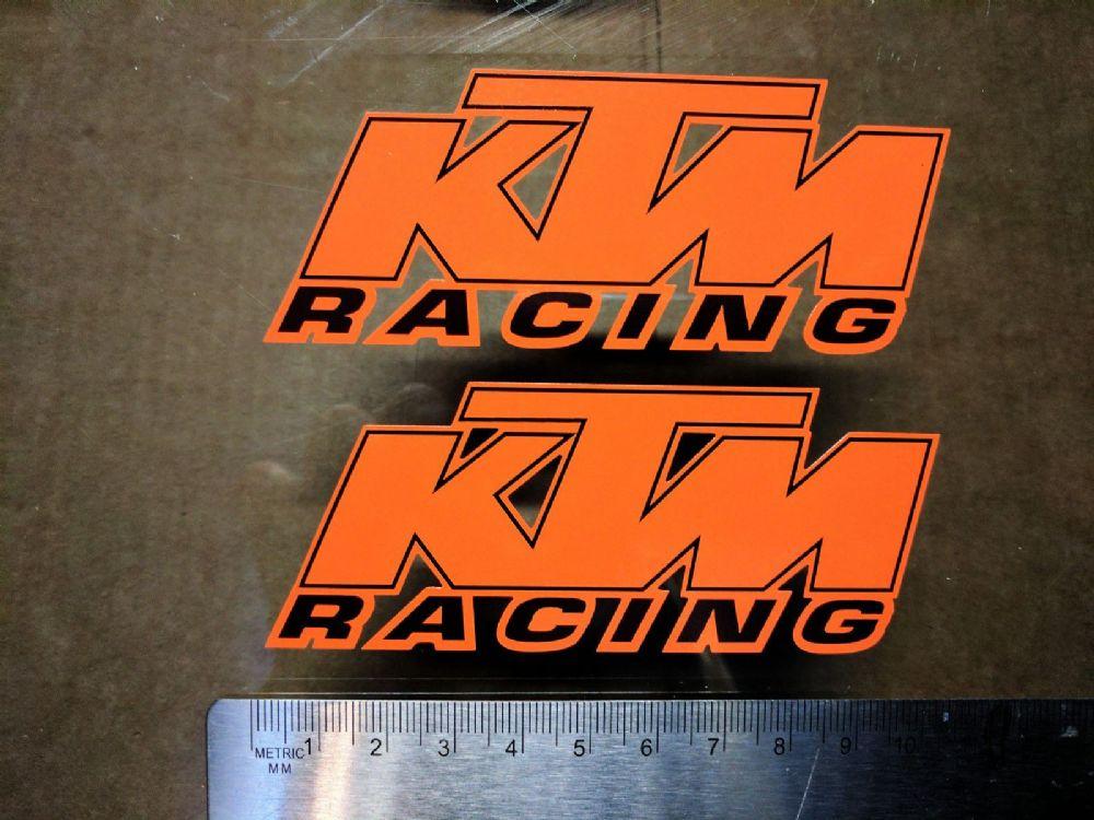 Ktm Racing Sticker x2 Duke sx mx exc sxf xc-w gs mxc supermoto car van Orange B